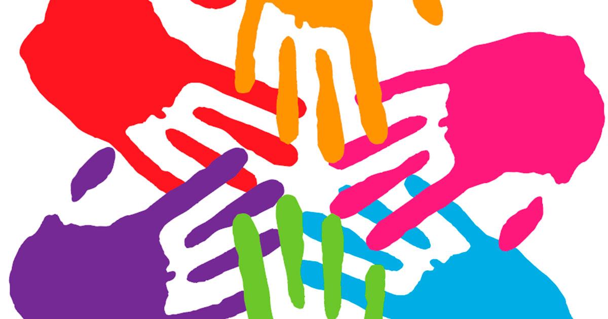 Värikkäitä piirroskäsiä.